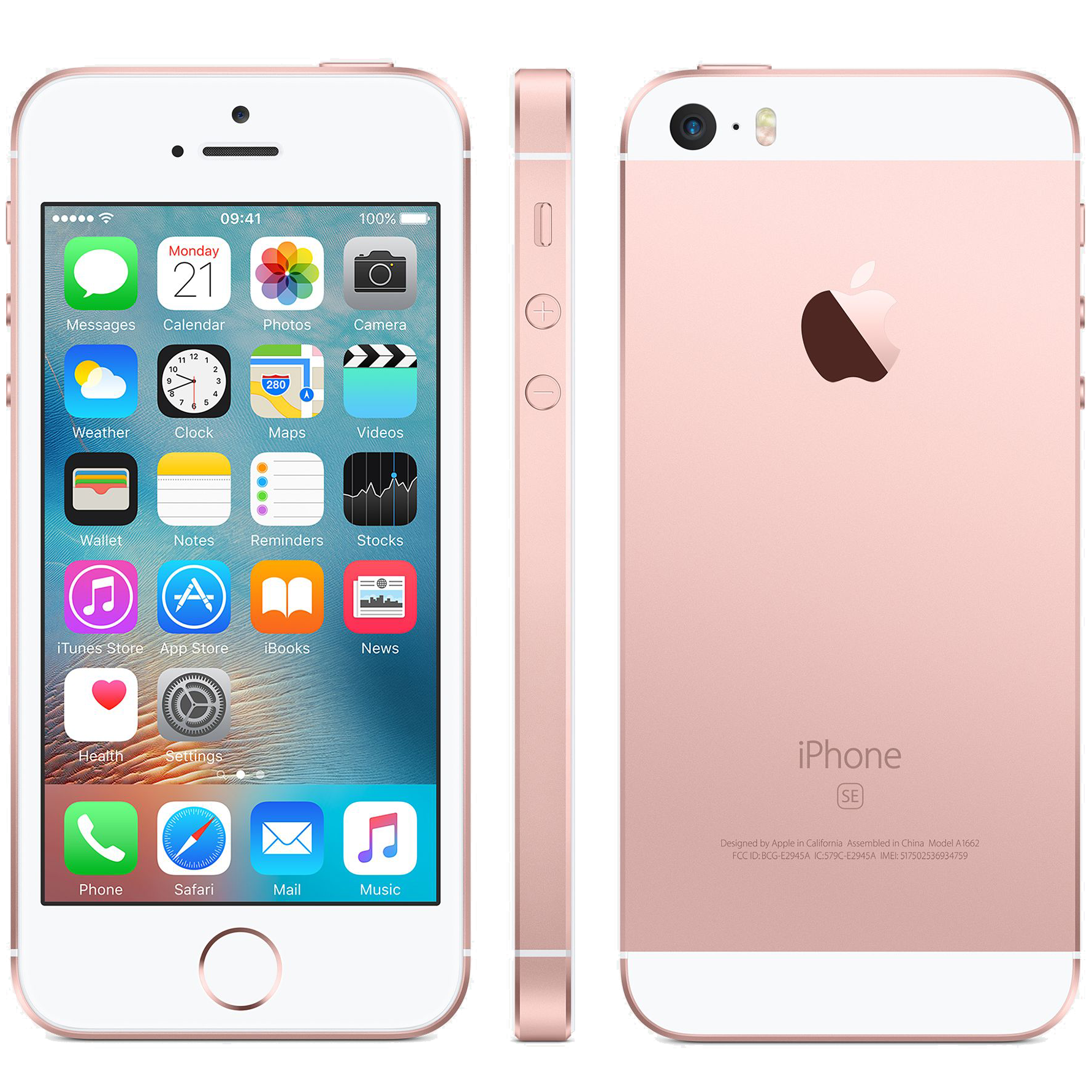 Apple iPhone SE LTE Smartphone with Screen Protector Case and Contract Sprint Metallic