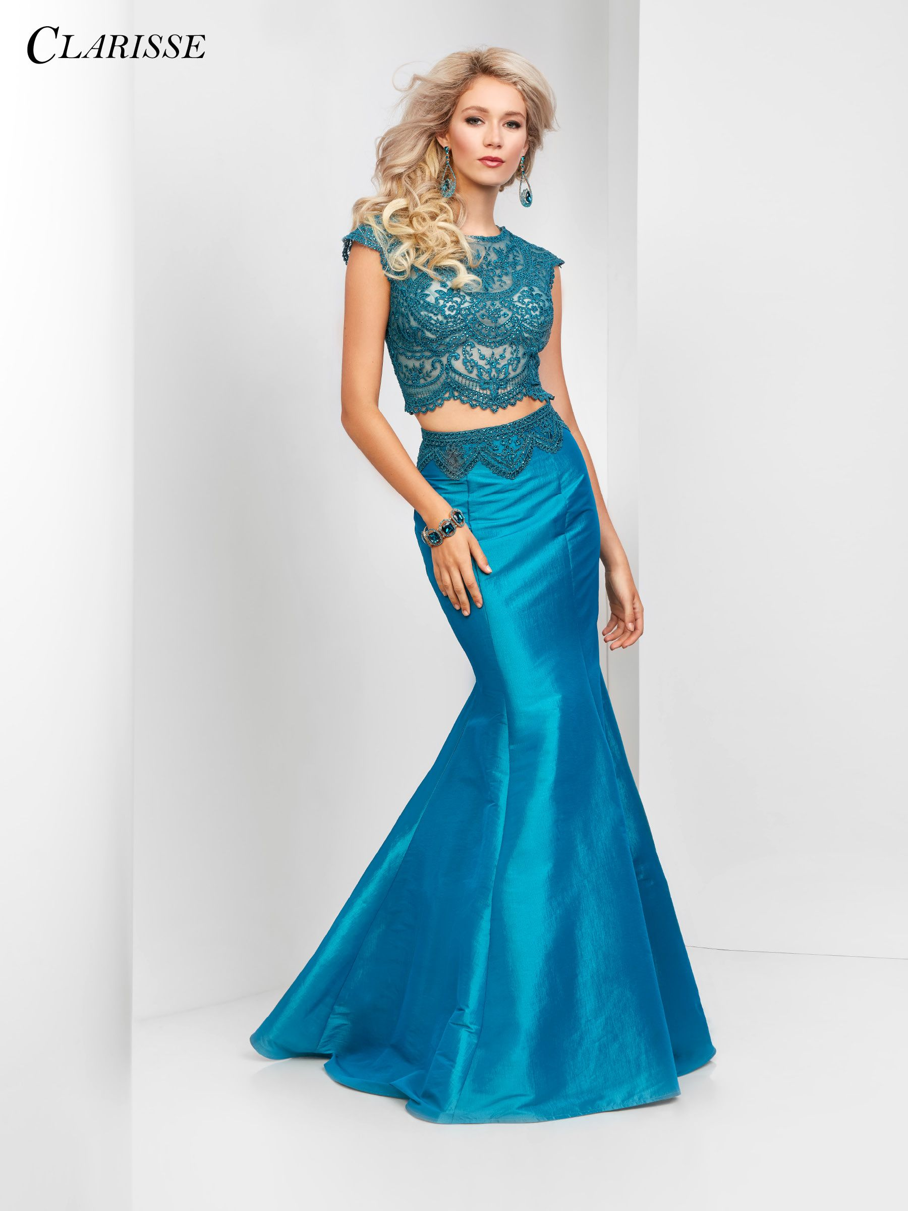 Clarisse Prom 2018 dress 3148. Look elegant in this lace two piece ...