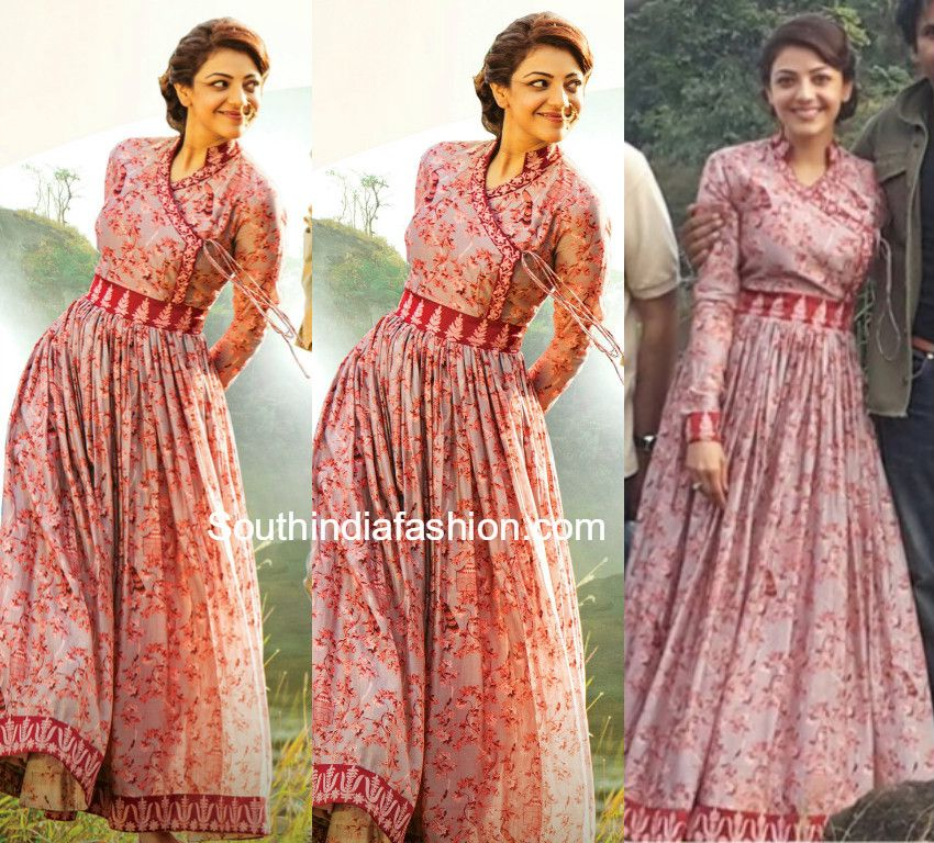 Kajal Aggarwal In Angrakha Anarkali South India Fashion India Fashion Fashion Clothes For Women