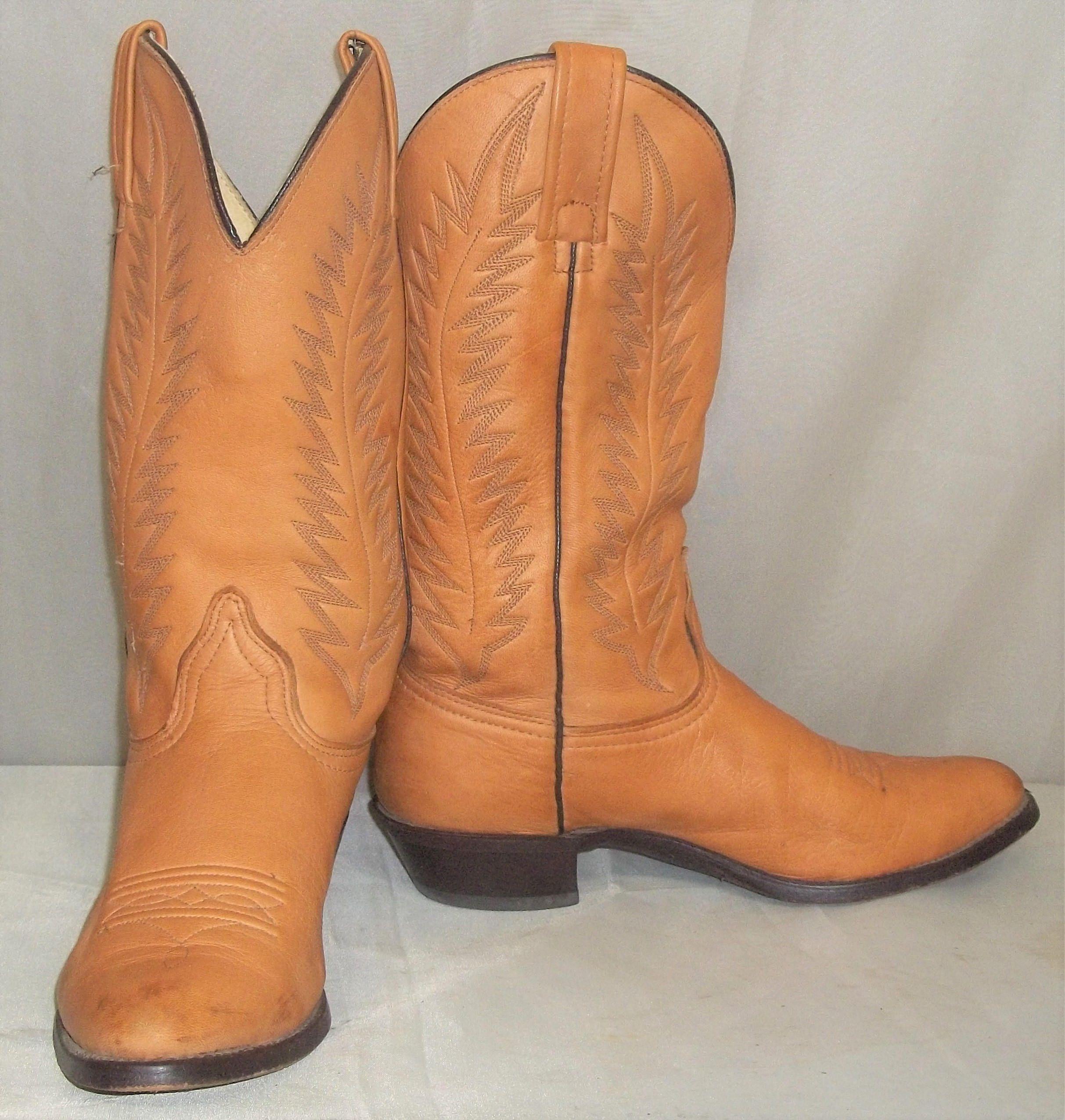 Vintage Texas Nubuck Leather Cowboy Western Boots Girls