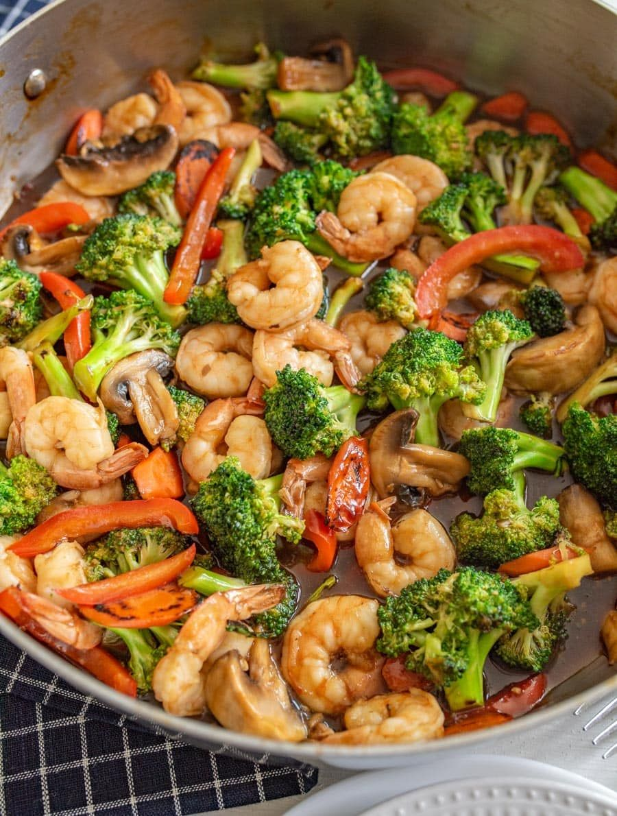 Shrimp Stir Fry #pescatarianrecipes