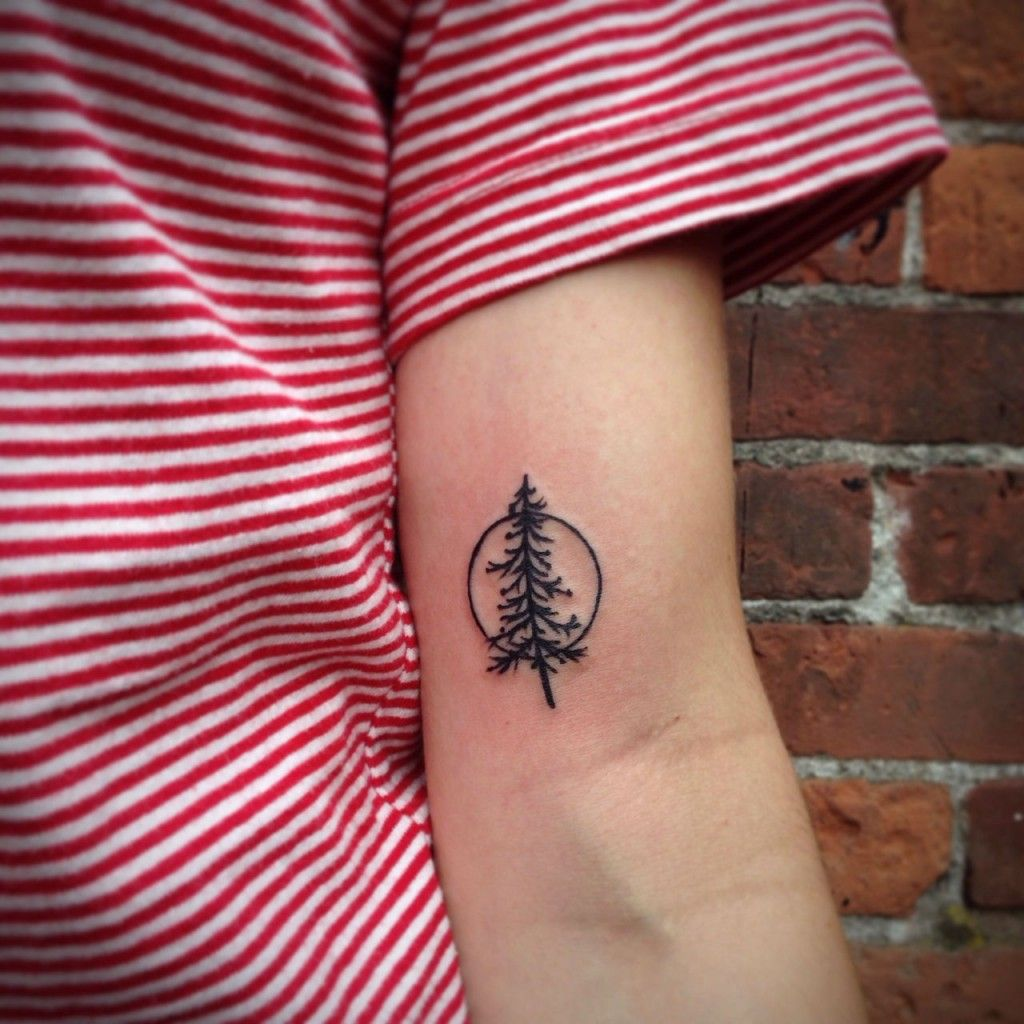 22 Photos of Mystical Pine Tree Tattoos View