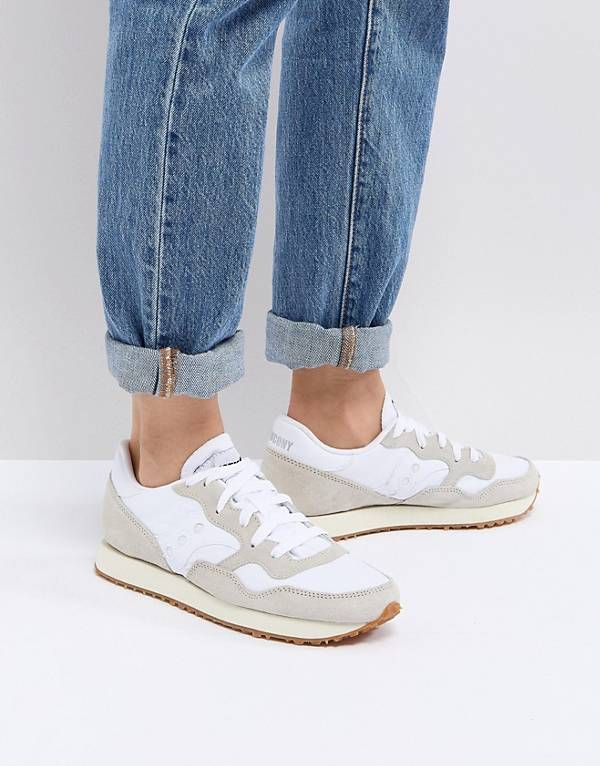 Saucony Dxn Vintage Sneakers In Cream