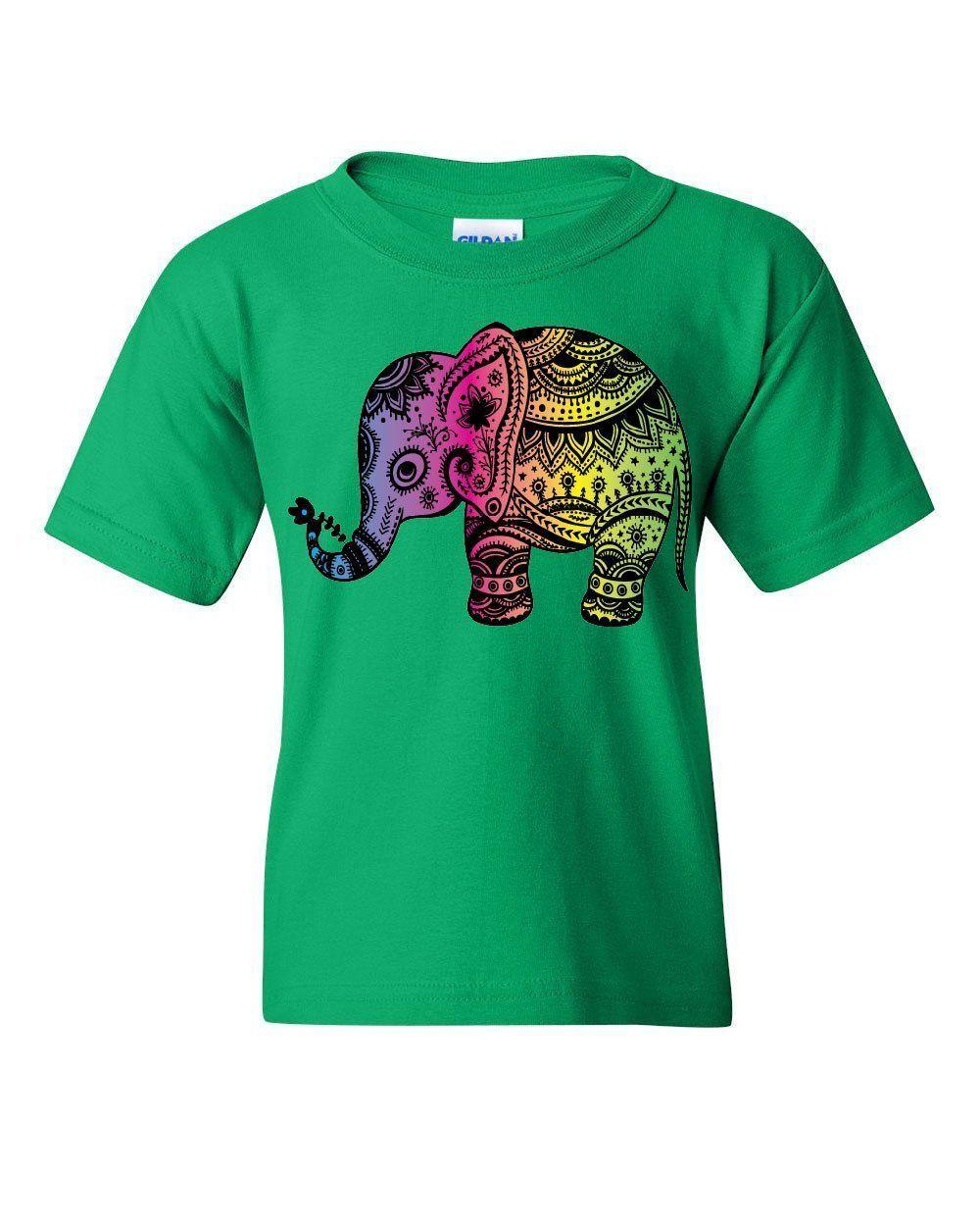 Elephant Henna Pattern Hoodie Mandala Indian Wildlife Hindu Art Sweatshirt