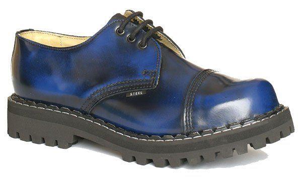 Steel 3 dierkové - modro-čierne