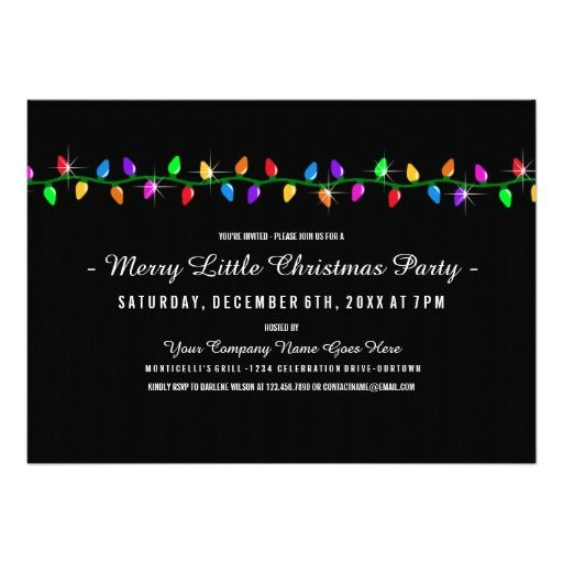 Classic lights company christmas party custom announcement shop classic lights company christmas party invitation created by personalize it with photos text or purchase as is stopboris Image collections