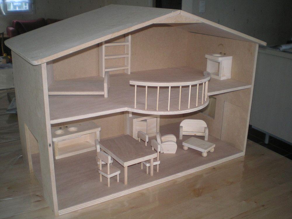 Plans et explications pour fabrication de maisons de poup es barbie photos id es de jouets - Fabrication maison en carton ...