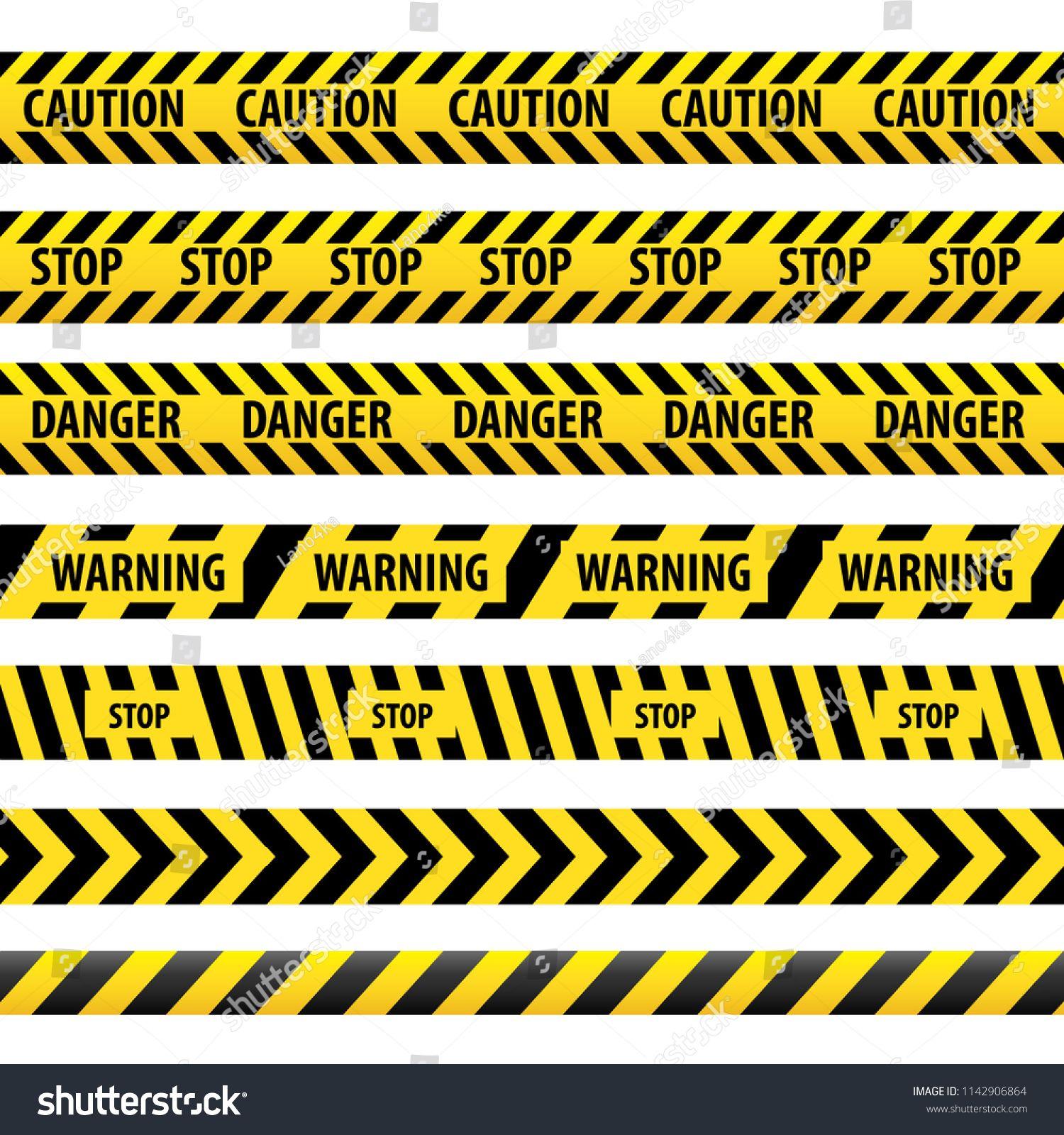 Seamless Tape Caution Danger Illustration Yellow Police Line Warning Tape Danger Tape Caution Tape Caution Da Vector Illustration Dangerous Illustration