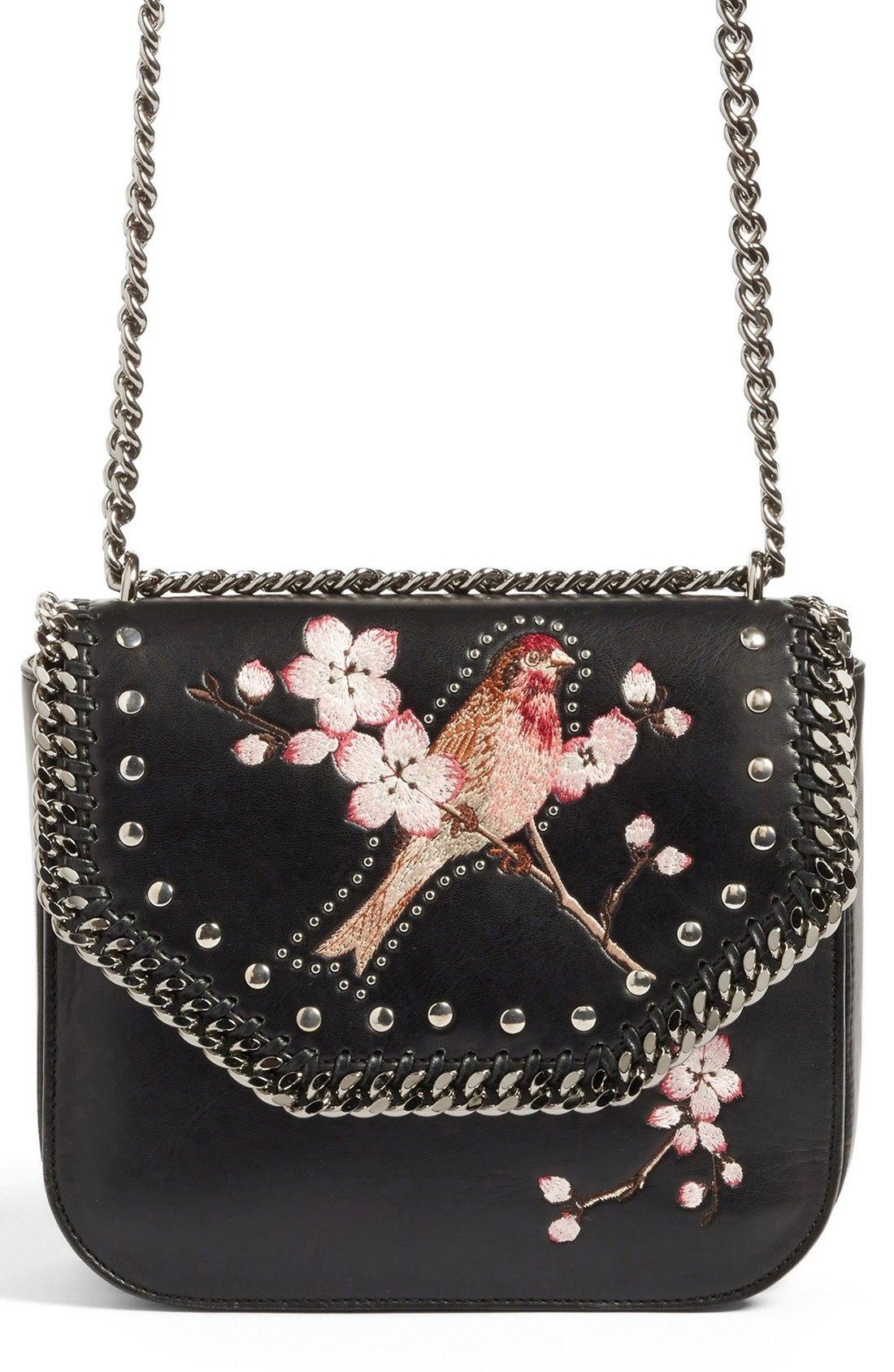 a86a80379a594 Stella McCartney Black Falabella Box Bird Shoulder Bag available at  #Nordstrom