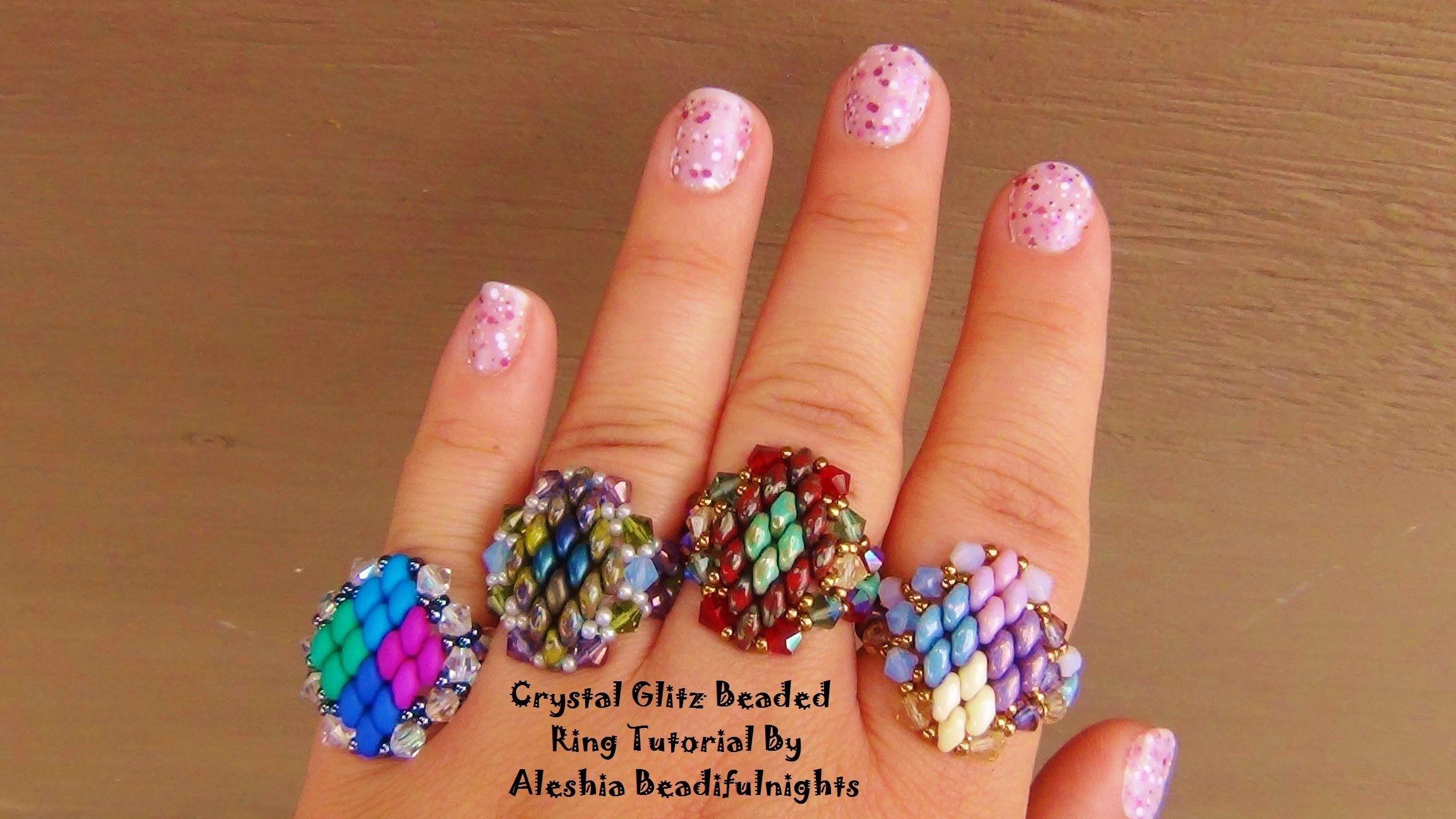 Crystal glitz free superduo beaded ring seed bead tutorials crystal glitz free superduo beaded ring seed bead tutorials baditri Choice Image