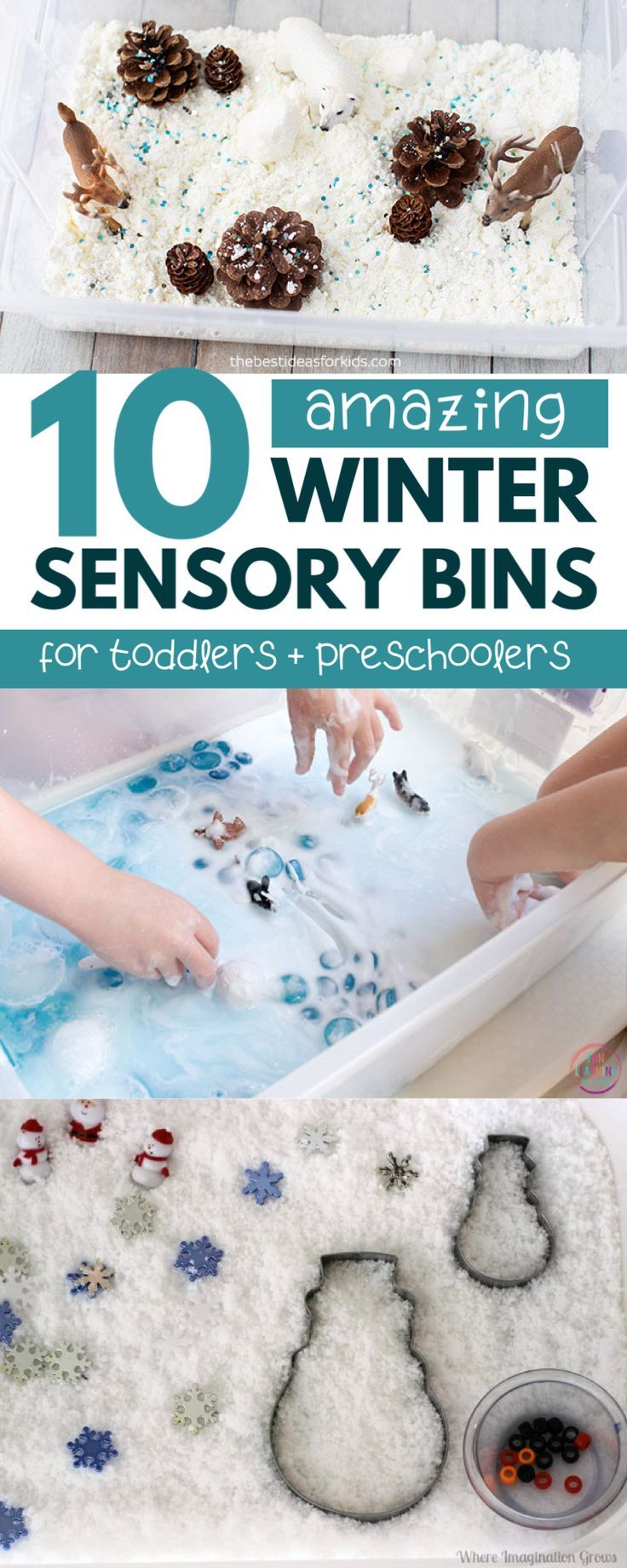 Photo of Winter Sensory Bins for Toddlers and Preschoolers | Happy Toddler Club