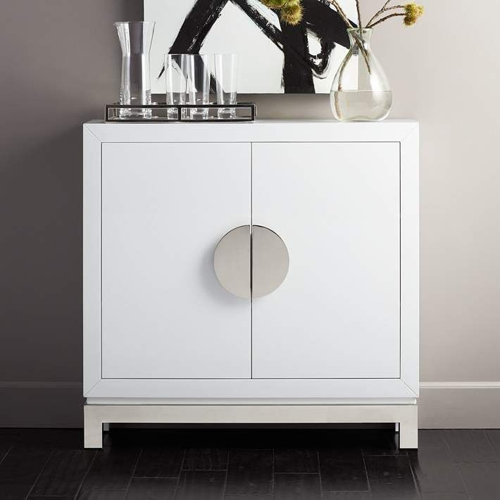 Walden Glossy White 2 Door Accent Cabinet 1w428 Lamps Plus Accent Doors Accent Cabinet Accent Storage Cabinet