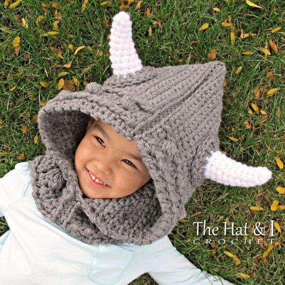 CROCHET PATTERN - Viking Style - chunky crochet hooded cowl pattern ...