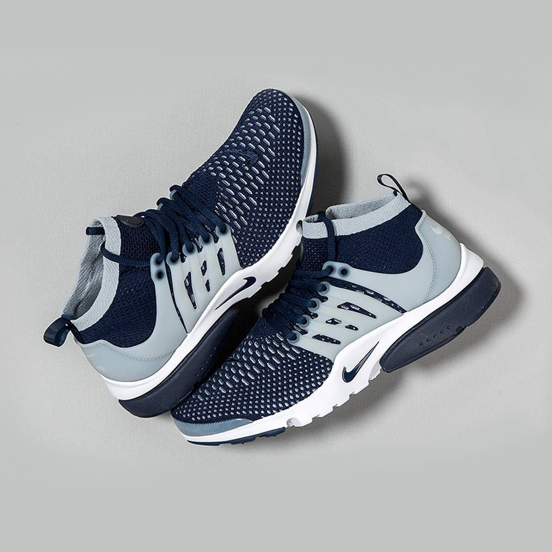 Georgetown Colours Hit The Nike Presto Collage Blue And Grey Give A Georgetown University Vibe To The Nike Air Presto Flyknit Ultra The New Silhouette Tenis
