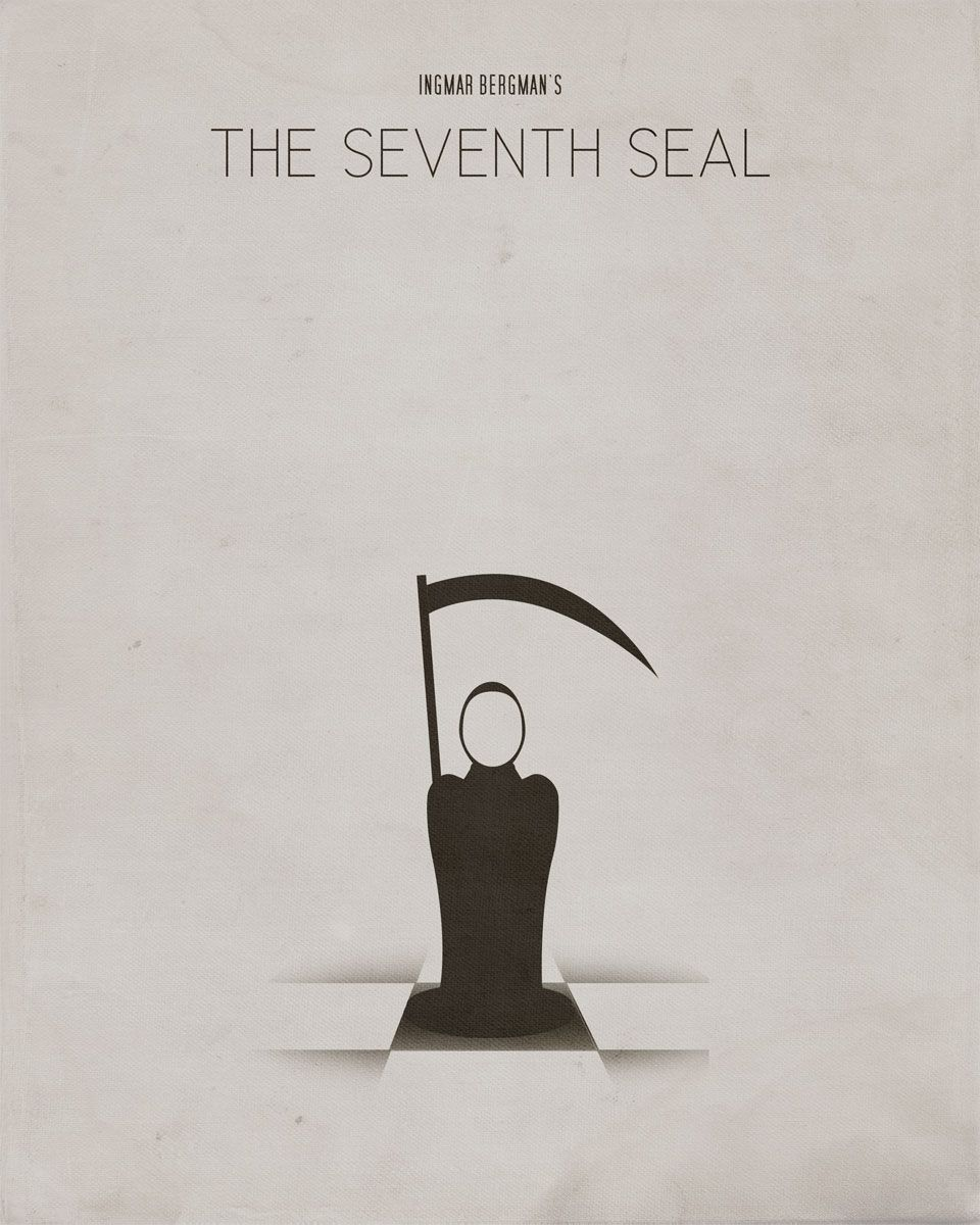 The Seventh Seal - Ingmar Bergman - Movie Posters - Graphic Design by The Chocolate Lime