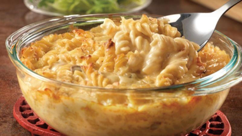 طريقة عمل مكرونة بصوص الجبن Recipe Campbells Recipes Recipes Cheese Pasta Bake
