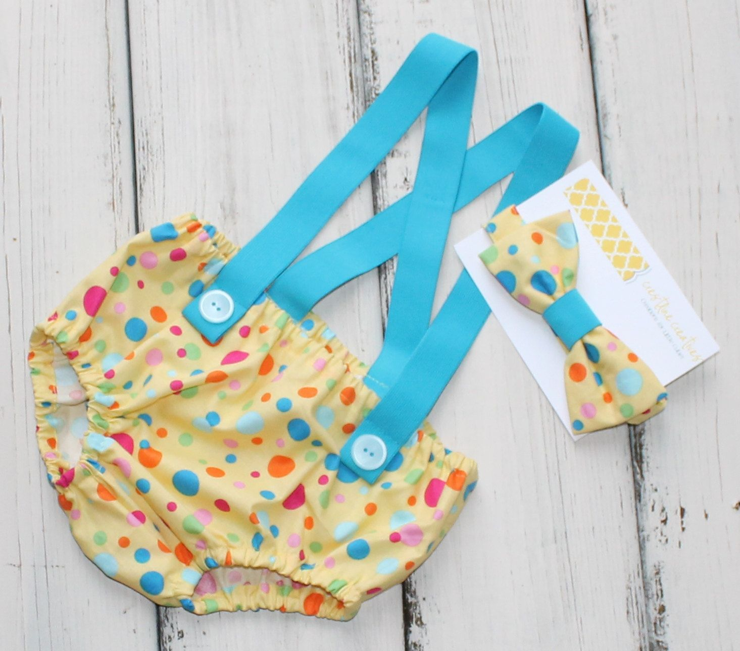 Cake Smash Outfit First Birthday Outfit Blue by CrestlineCreatives, $29.99