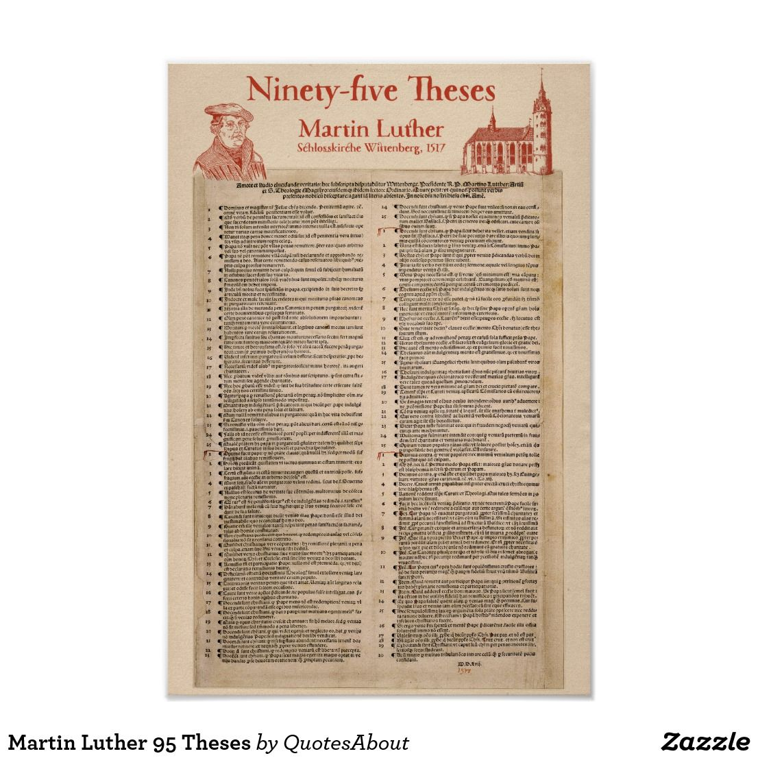 martin luther and the 99 thesis Facts about the 95 theses or the on oct 31, 1517, martin luther mailed the 95 theses to local bishops that they might take action against indulgences.