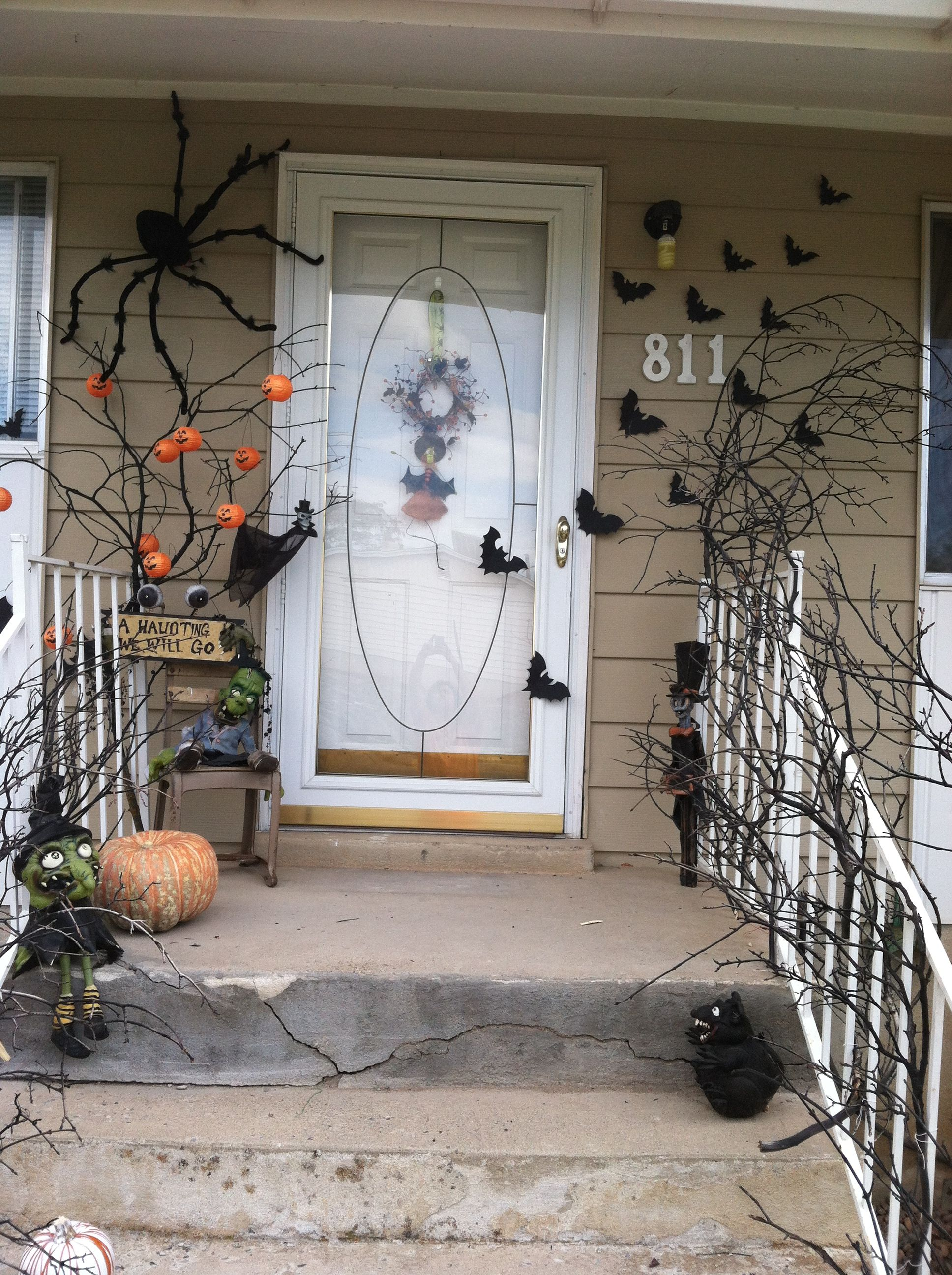 Halloween Halloween Ideas Pinterest Halloween porch, Spooky - Scary Door Decorations For Halloween
