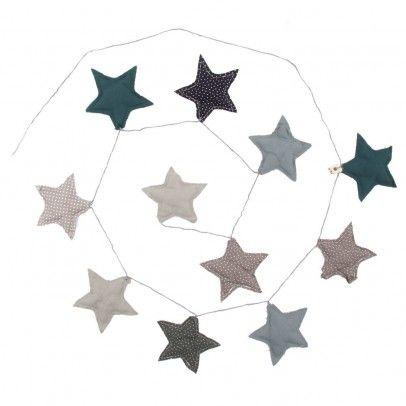 Babyzimmer deko sterne  Girlande Sterne - blau Blau | Girlanden, Sterne und Blau
