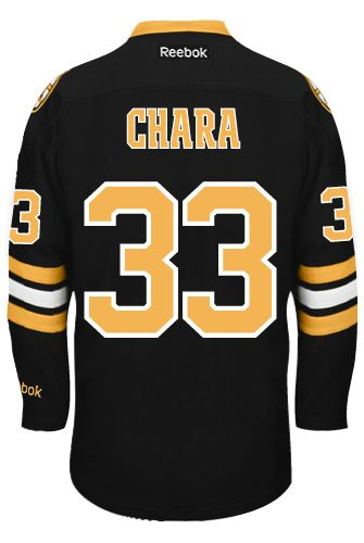 f412ad416 Boston Bruins Zdeno CHARA  33  C  Official Third Reebok Premier Replica NHL  Hockey Jersey (HAND SEWN CUSTOMIZATION)