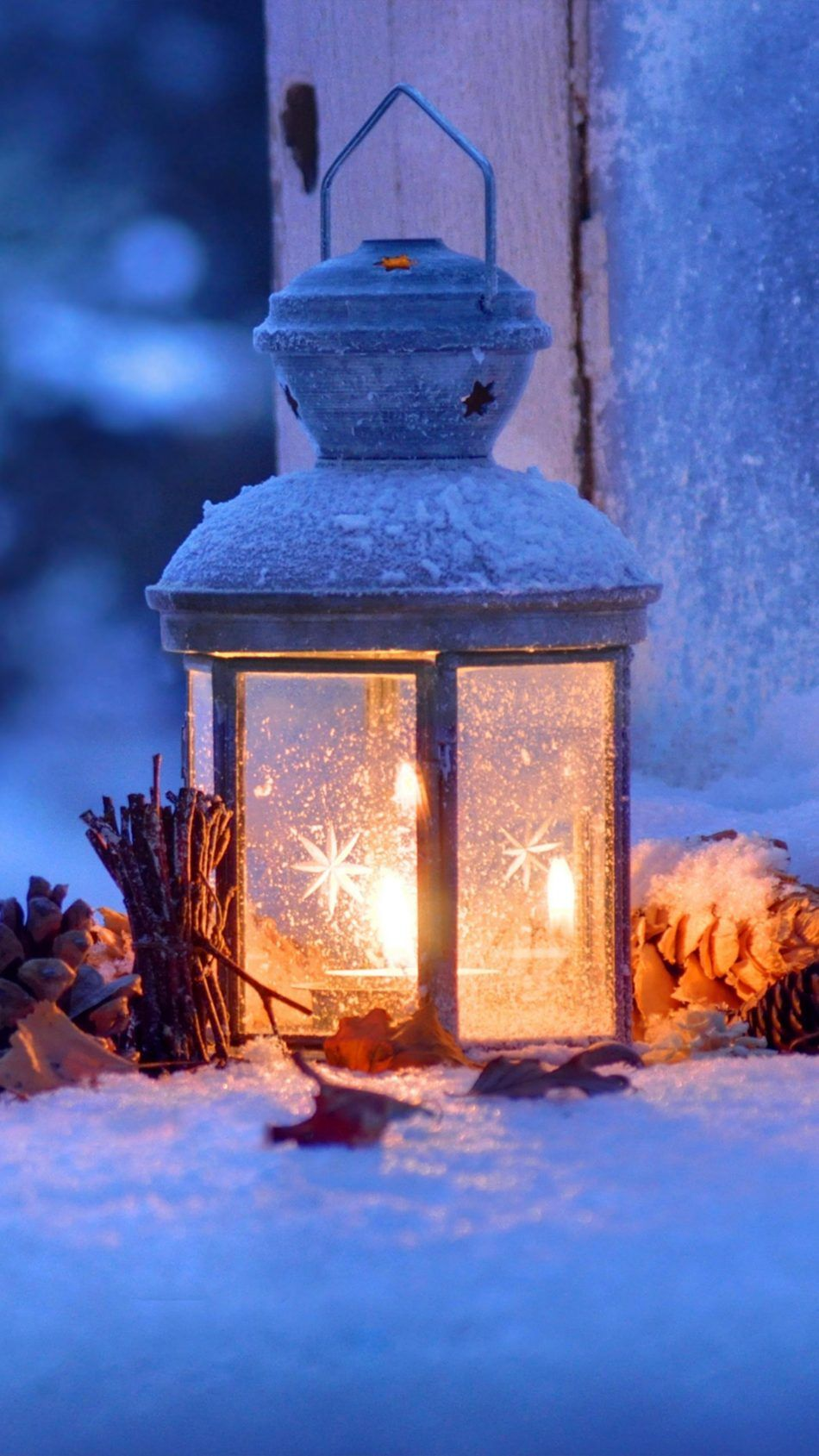 Lantern Snow Winter Christmas Eve 4k Ultra Hd Mobile Wallpaper Christmas Wallpaper December Wallpaper Christmas Lanterns