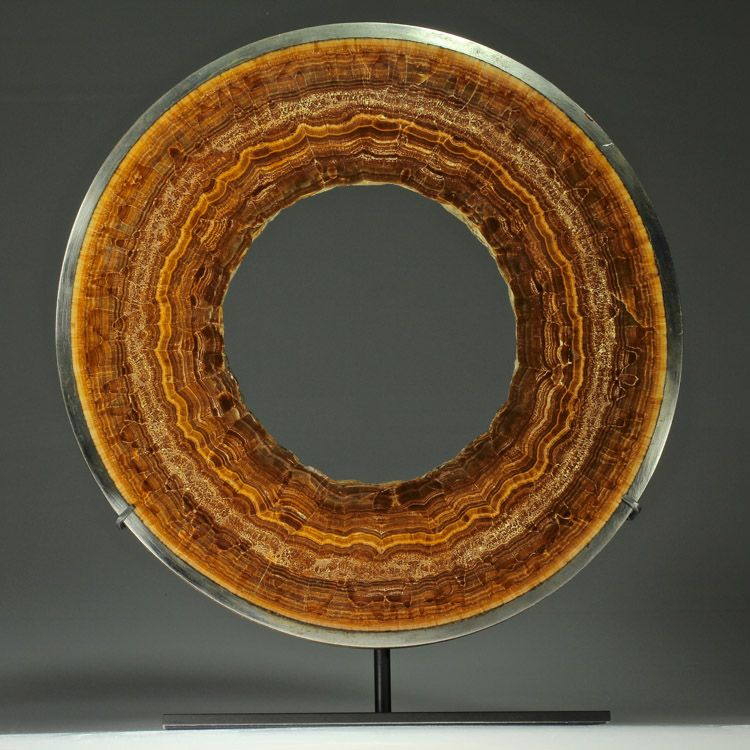 Concentric Aragonite Pipe Large. This and more rare mineral specimens for sale on CuratorsEye.com