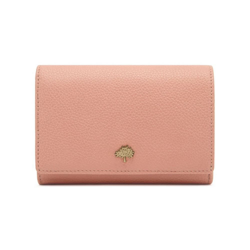 Mulberry, Small Classic Grain Tree French Purse in Rose Petal, £275