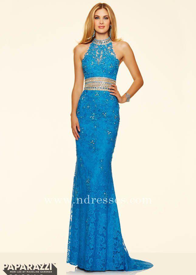 Mori Lee 98110 Extra Sparkle Ultramarine Beaded Waist Party Dresses