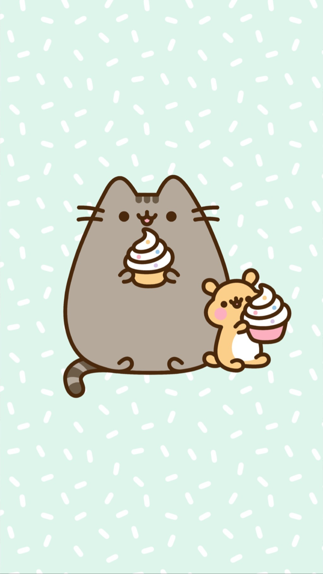 Pusheen Cupcakes With Images Pusheen Cute Cat Wallpaper Wallpaper Iphone Cute