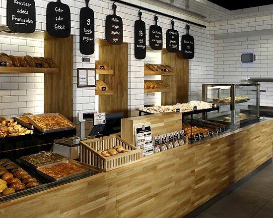 Pretty Bakery Interior Design Ideas With Small Minimalist Design