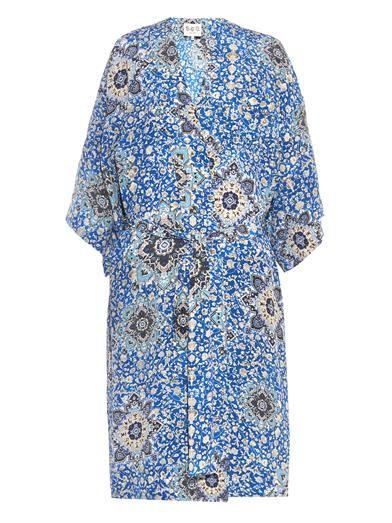 Tile Paisley silk kimono | Sea | MATCHESFASHION.COM