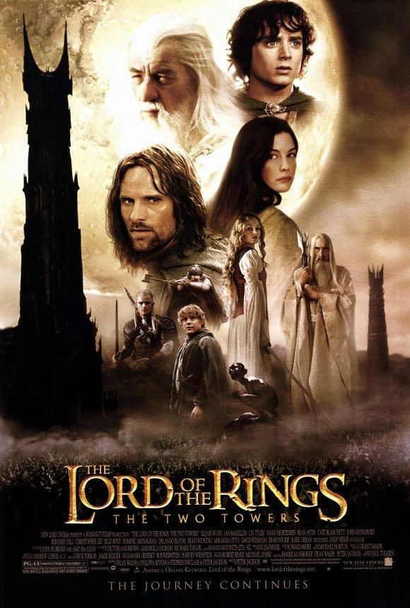 Lord Of The Rings The Two Towers 27x40 Movie Poster 2002 The