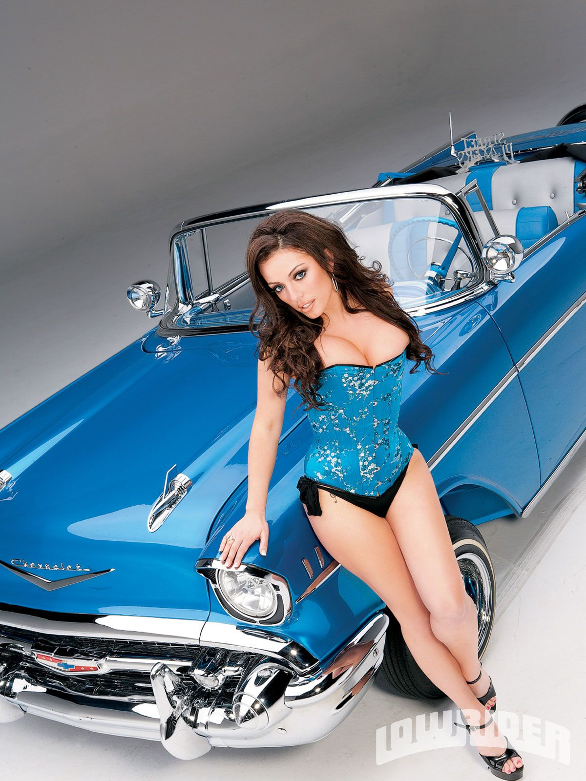 Hot 57 Chevy Girls 1957 Chevrolet Bel Air Convertible Heidi Dupre Colors