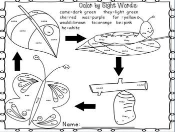ON SALE until May 8th! Color by Sight Words ~May Edition