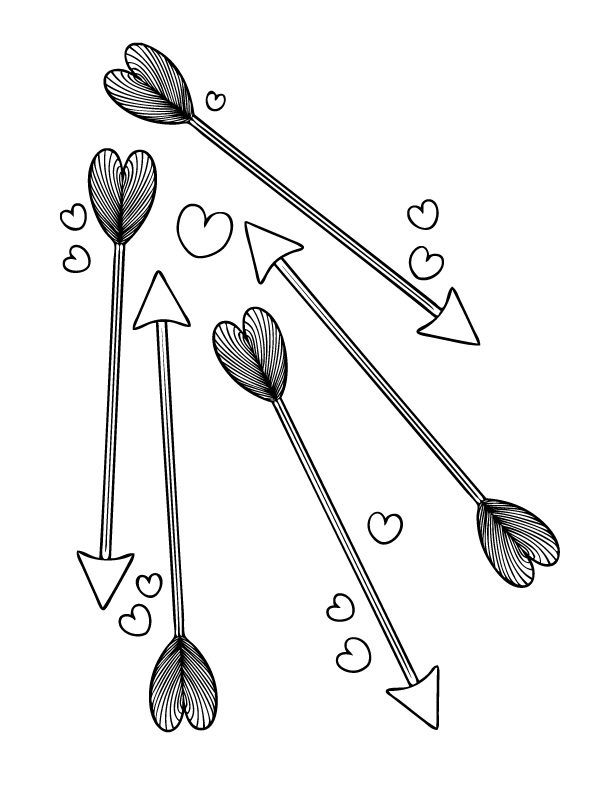 Coloring Pages | Arrow, DIY Valentine and Embroidery