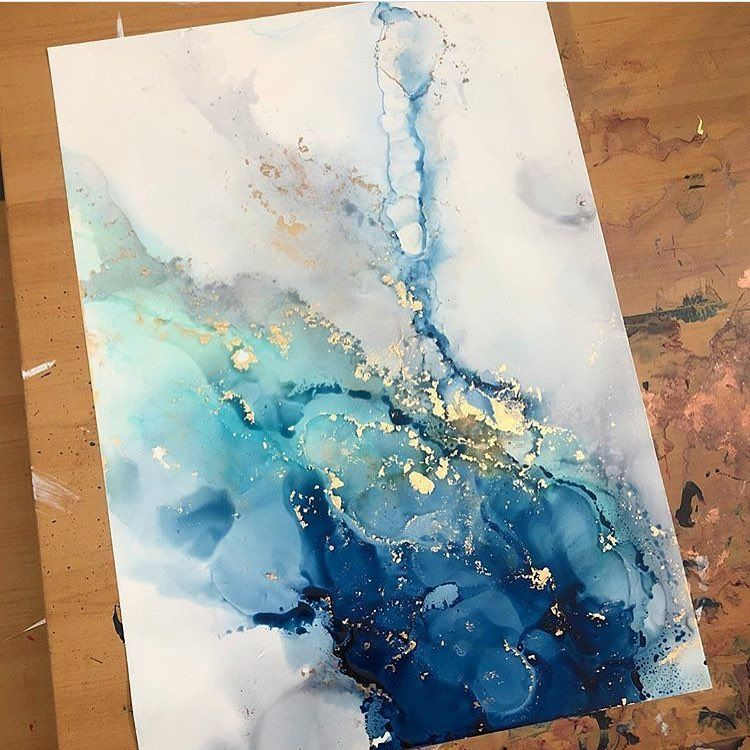 "Abstract Art on Instagram: ""@hannahsinkart shares her tips on working with alcohol inks, check it out! ✨ (link in my bio) stunning❤️"" #alcoholinkcrafts"
