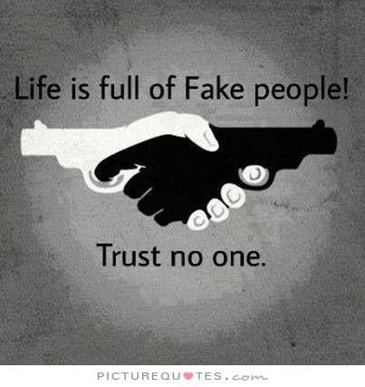 Life Is Full Of Fake People Trust No One Picture Quotes Trust