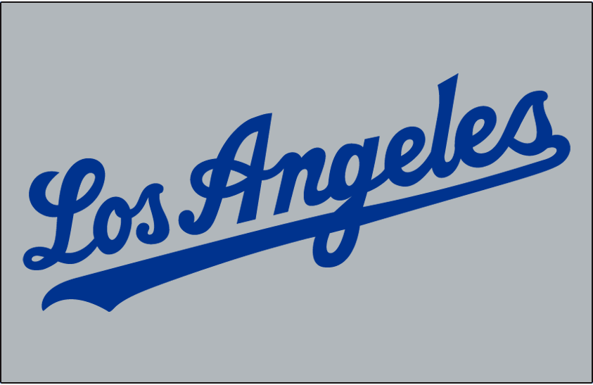 the latest 52561 8d24f Los Angeles Dodgers Jersey Logo (1959) - Los Angeles in blue ...