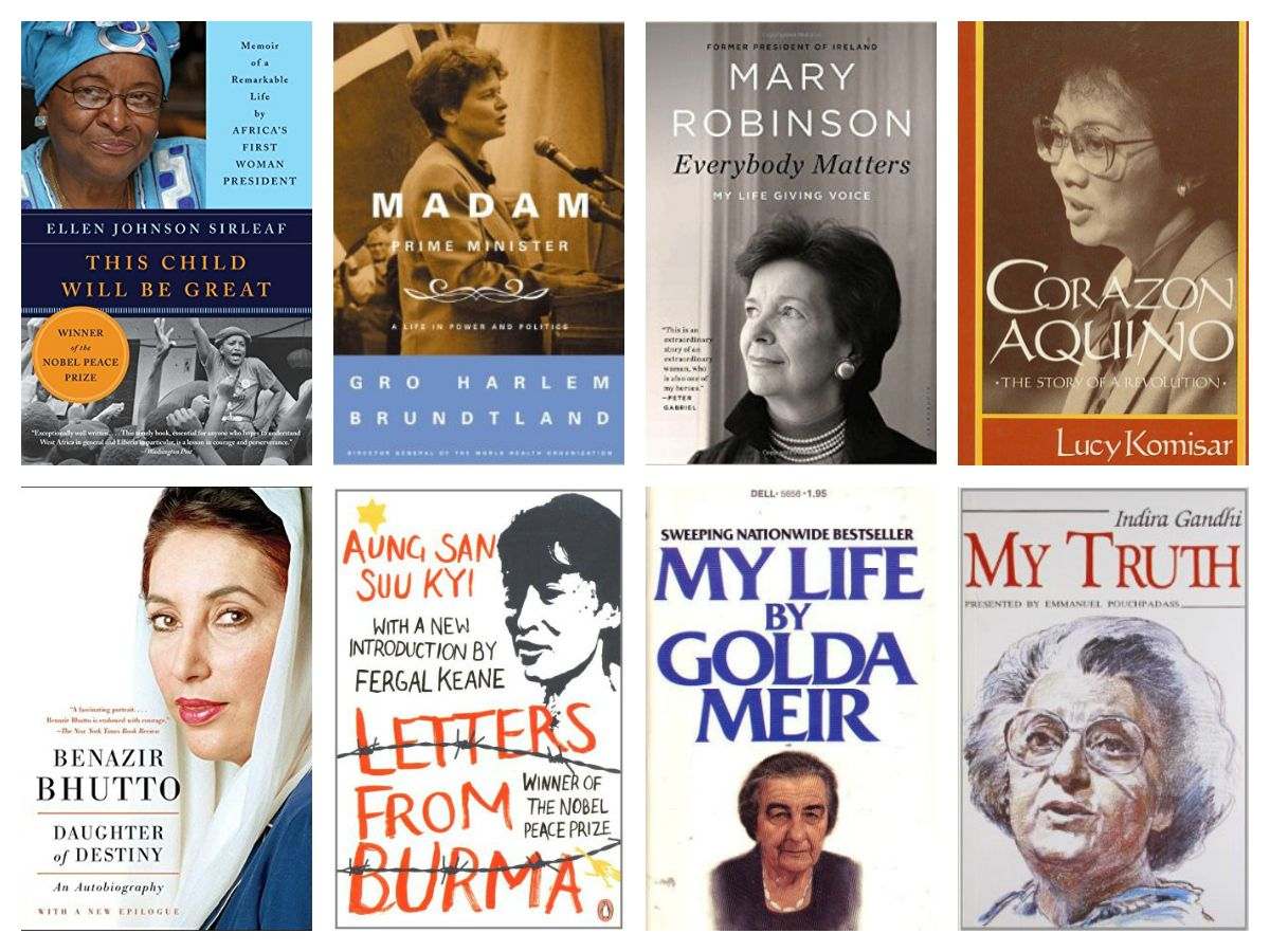 These memoirs, biographies, and autobiographies tell the stories of women  who ran countries around the world - from the top.