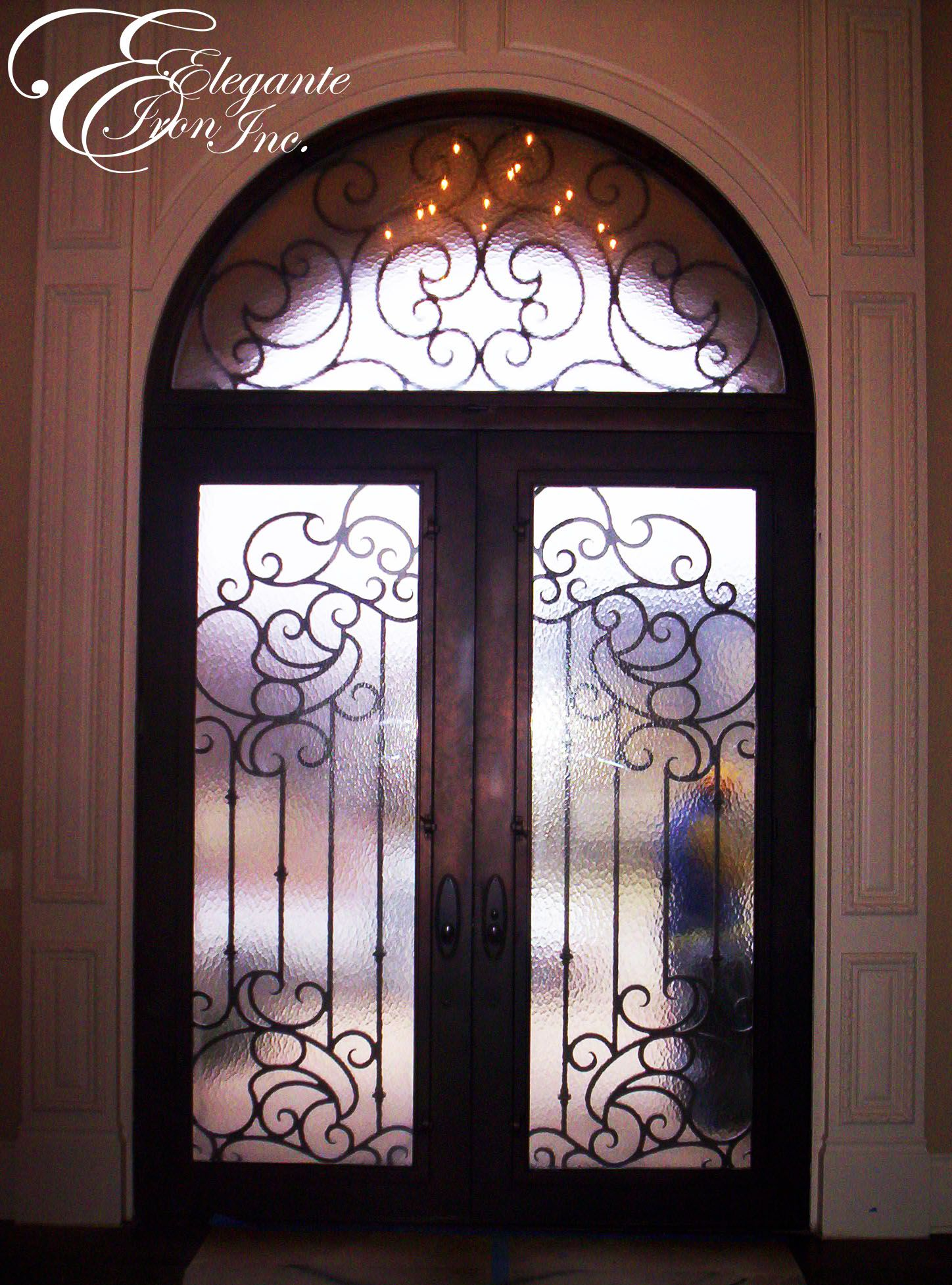 Custom Wrought Iron Door With Transom (interior View).
