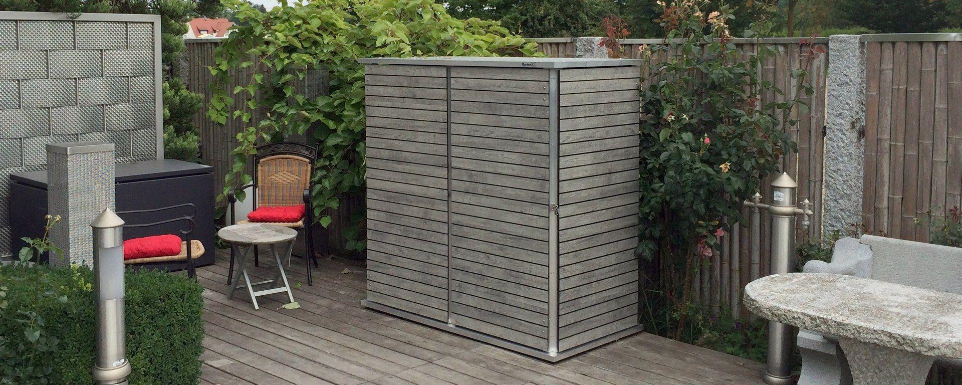 Gartenschrank in tollem Design und mit genialer Innenstruktur ...