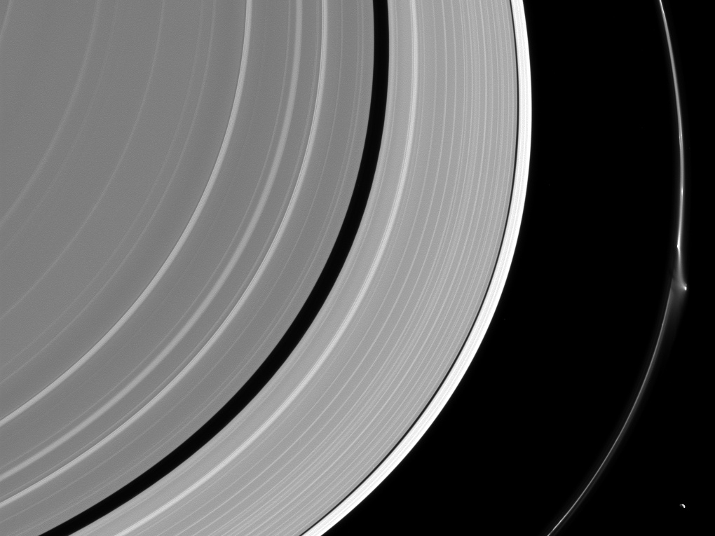 A Mysterious Object Just Made A Dent In One Of Saturn S Rings Saturn Cassini Spacecraft Astronomy