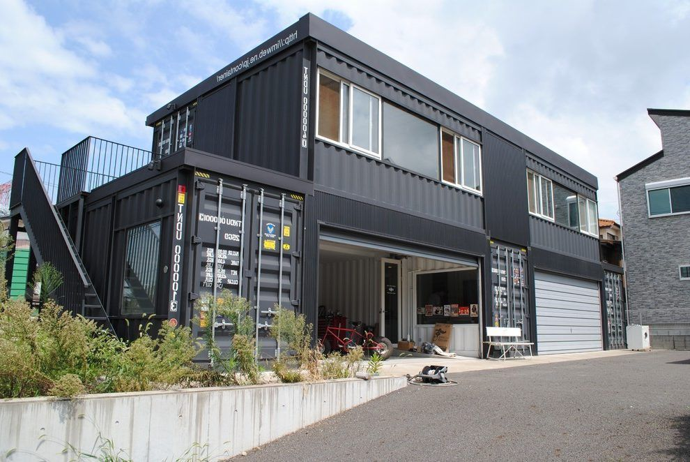 Shipping Container House Garage Contemporary With Shipping