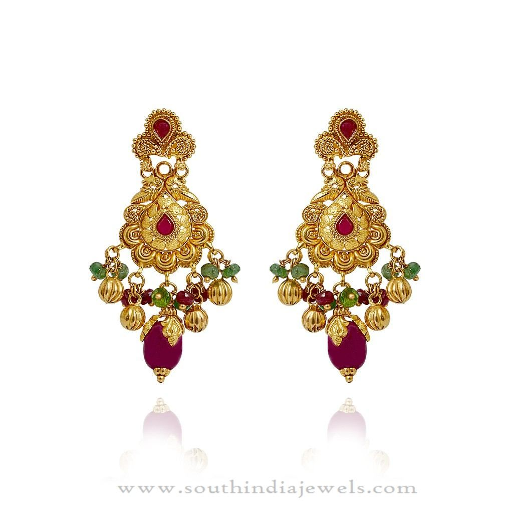 Gold Earrings Designs South Indian Models