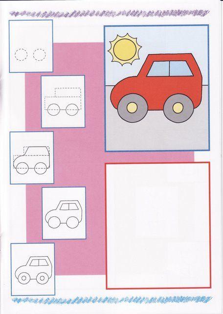 Auto Tekenen Met Kleuters Thema Vervoer Tekenen Leer Tekenen En
