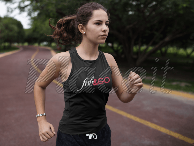 Download Placeit Sleeveless Shirt Mockup Of A Woman Running At A Running Track While Wearing Custom Sportswear Running Women Custom Sportswear How To Wear