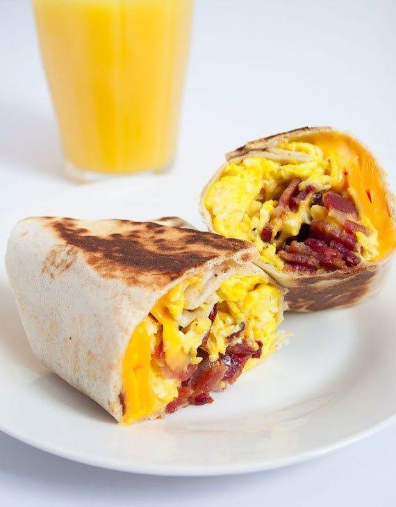 Bacon, Egg & Cheese Breakfast Wrap http://www.recipes-fitness.com/bacon-egg-cheese-breakfast-wrap/
