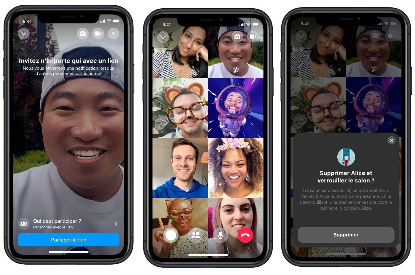 Messenger Rooms Facebook propose les appels vidéo à 50
