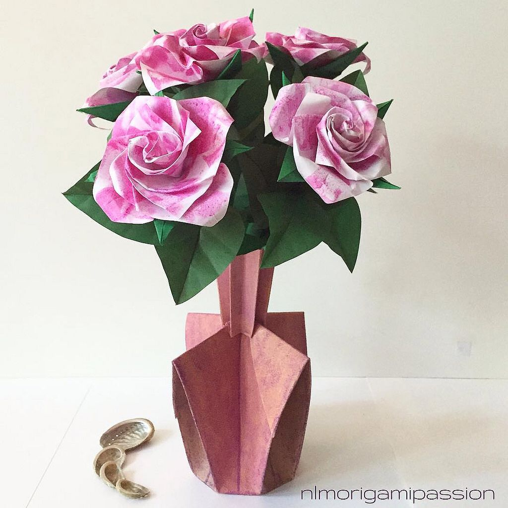 Fancy Roses Nlm Origami Passion Flower Bouquet Pinterest